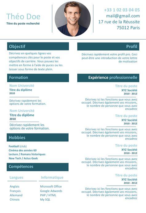 Les Exemples De Cv by Exemple De Cv Travailleur Autonome Gratuit 224 T 233 L 233 Charger