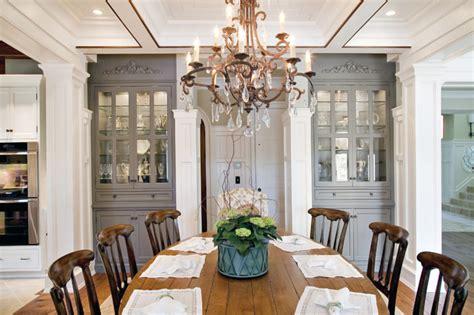elegant traditional dining room  custom china cabinets
