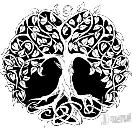 25 Best Images About Tree Stencil On Pinterest Cut Out Art Cut Out Canvas And Tattoo Stencil Tree Stencil Template