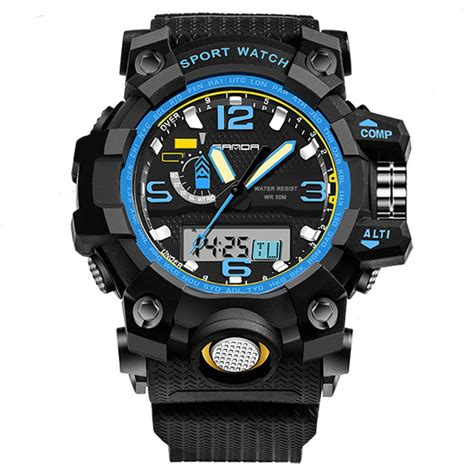 Sanda Jam Tangan Sporty Pria Sd 320 sanda jam tangan sporty pria sd 732 black blue jakartanotebook