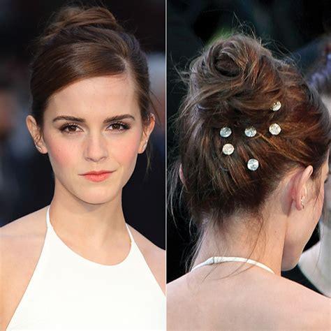 emma watson updo emma watson s hair gems 15 star inspired hairstyles for