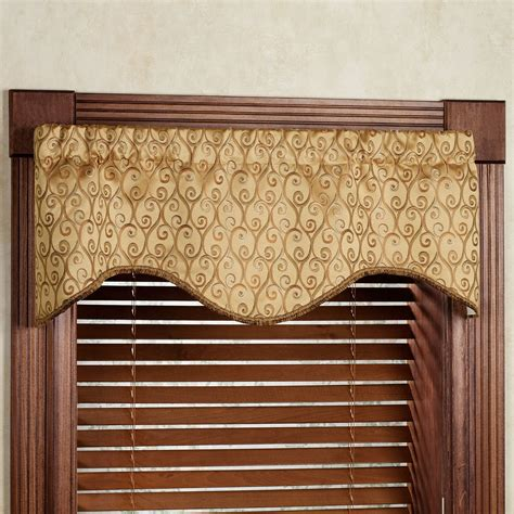 Scalloped Valance Curtains Twine M Shaped Scalloped Window Valance