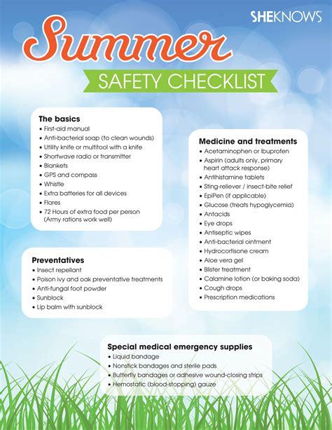summer fun safety  summer woohoo summer safety tips summer safety safety checklist