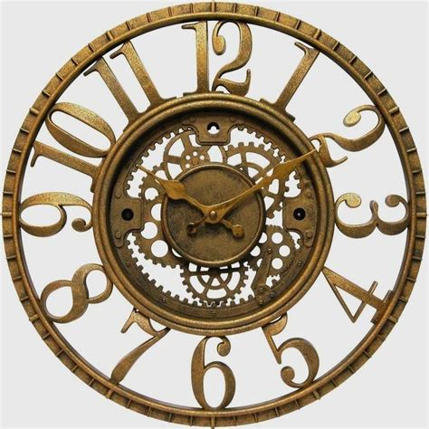 cool house clocks unique contemporary quot gear quot clock round wall clocks