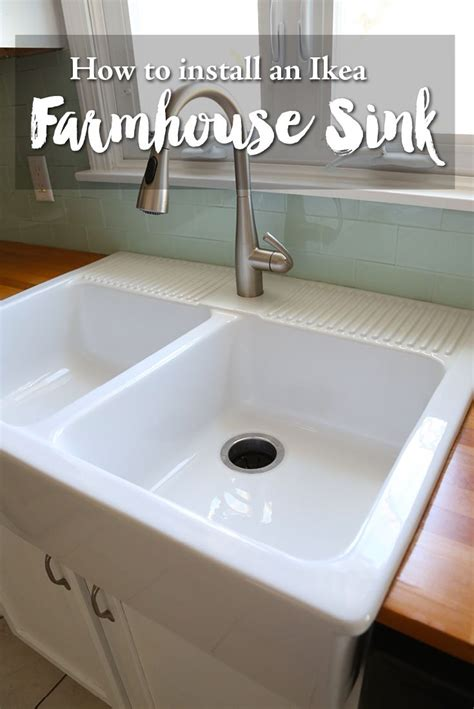 install farmhouse sink existing counter installing an ikea farmhouse sink apron front sink