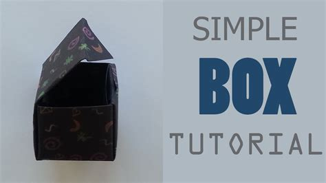 Origami With One Sheet Of Paper - origami box with lid tutorial one sheet of paper