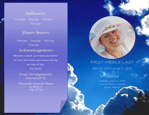 lifecycleprints celebration of life funeral program