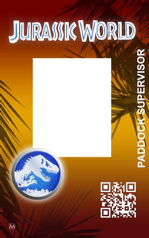 jurassic world id card template masrani