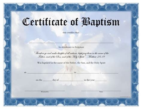 free water baptism certificate template 10 best projects to try images on certificate