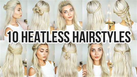10 Heatless Back To School Hairstyles   YouTube