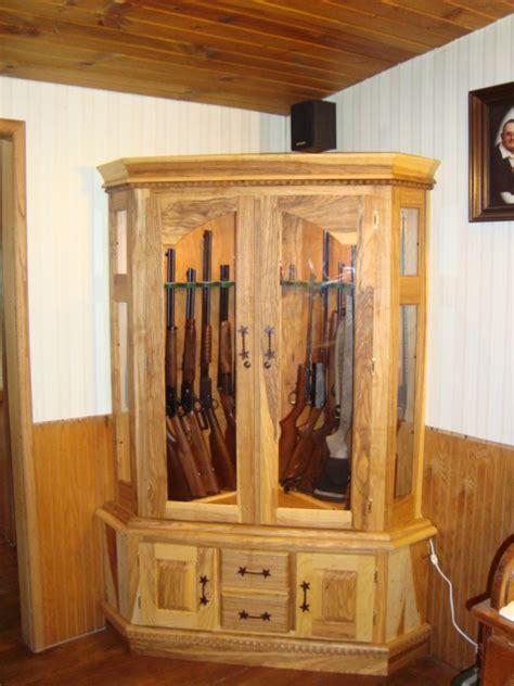 gun cabinet plans corner  woodworking