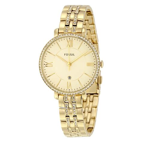 Fossil Jacquilene Gold fossil jacqueline chagne gold tone