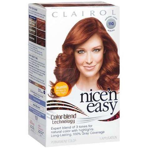 clairol n easy light auburn clairol n easy hair dye in 110 light auburn
