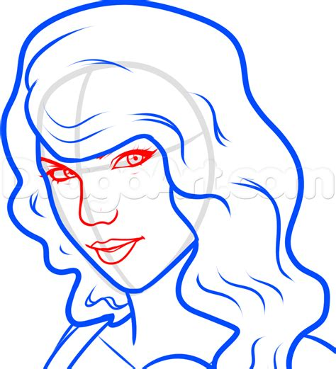 tutorial drawing online how to draw taylor swift easy step by step stars people