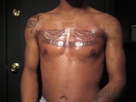 chest tattoos for men writing ambigram writing for s chest