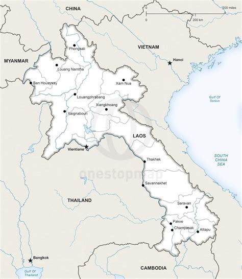 map of laos vector map of laos political one stop map