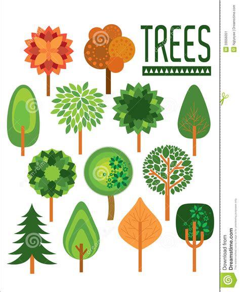 Tropical Tree Plants - plants and trees illustration stock illustration image 33056051