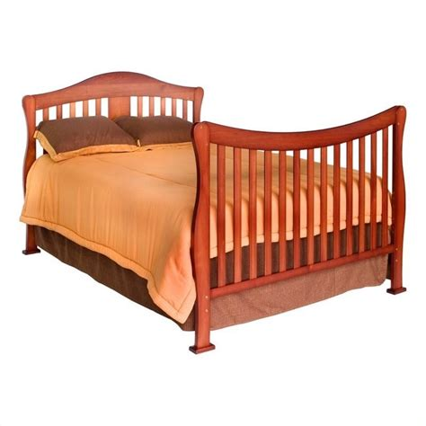 Convertible Crib Bedding Davinci 4 In 1 Convertible Crib With Bed Rails In Cherry K5101c K4799cx Pkg