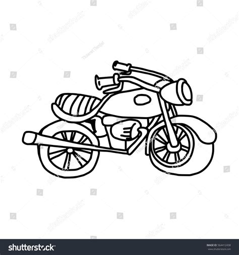 doodle motorcycle illustration vector doodle motorcycle stock