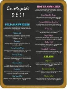 Deli Menu Template by Nyc Delicatessen Menu Template Archive