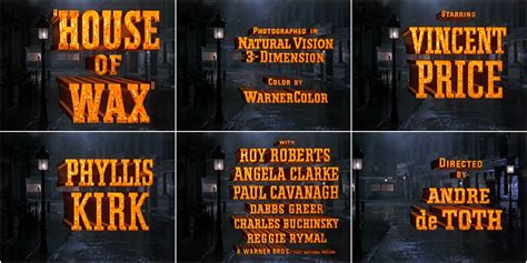 house of wax soundtrack house of wax 1953 art of the title