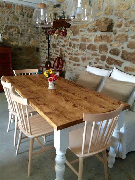 rustic farmhouse kitchen table from reclaimed wood with