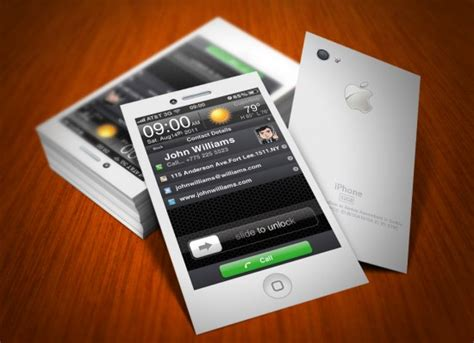 iphone contact business card template business card critic