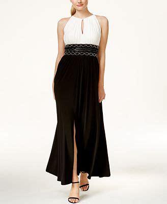 r m richards sleeveless beaded evening gown r m richards sleeveless colorblocked beaded