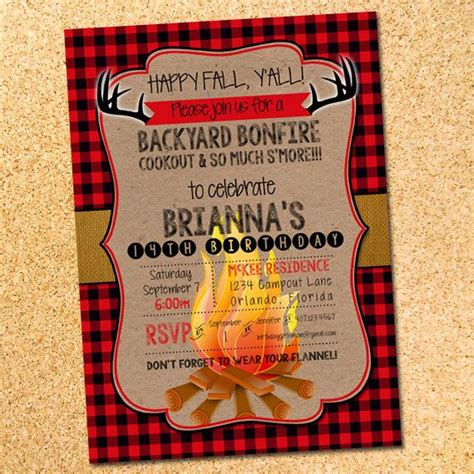 Diy Printable Bonfire And Or 28 Images Best 25 Backyard Bonfire Ideas On Printable Bonfire Cing Invitations Templates Free