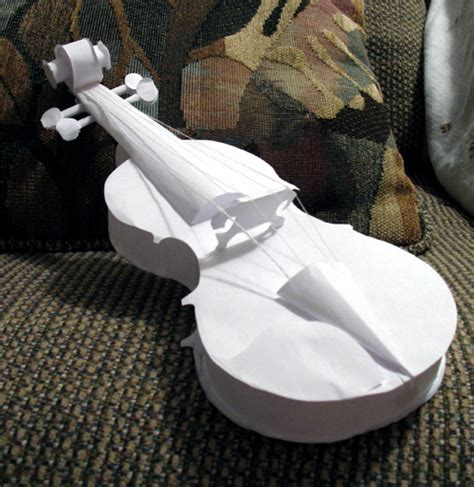 How To Make A Paper Violin - paper violin by hungriestcrocodile on deviantart