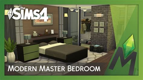 Industrial Bedrooms by The Sims 4 Room Building Modern Master Bedroom Youtube