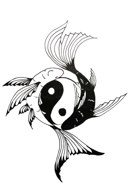 yin yang koi fish tattoo fish yin yang designs