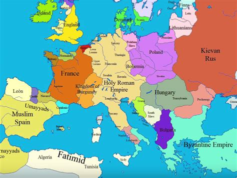 the map of europe map of europe 1000 ad thefreebiedepot