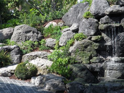 rock garden in florida rock garden waterfall and plantings in manalapan florida asian landscape other metro by