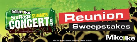 Mike And Mike Sweepstakes - mike and ike 174 summer concert series reunion sweepstakes six flags sassy dealz