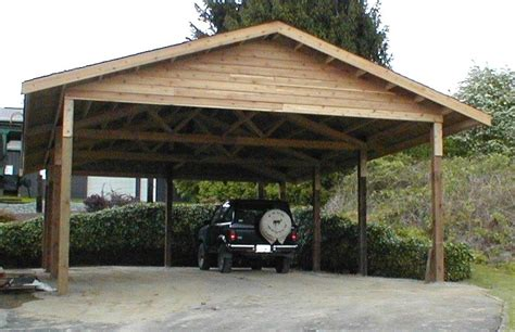 Wooden Car Ports by Wooden Carports 24 X 36 Cedar Carport Attached Carport