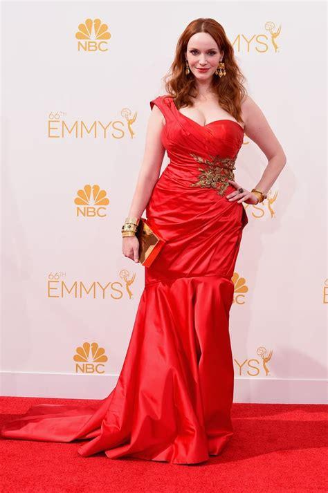 christina hendricks rings jewellery on the 2014 emmys red carpet popsugar fashion