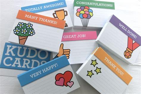 kudo cards templates appreciation cards kudo wall and kudo box plays in business
