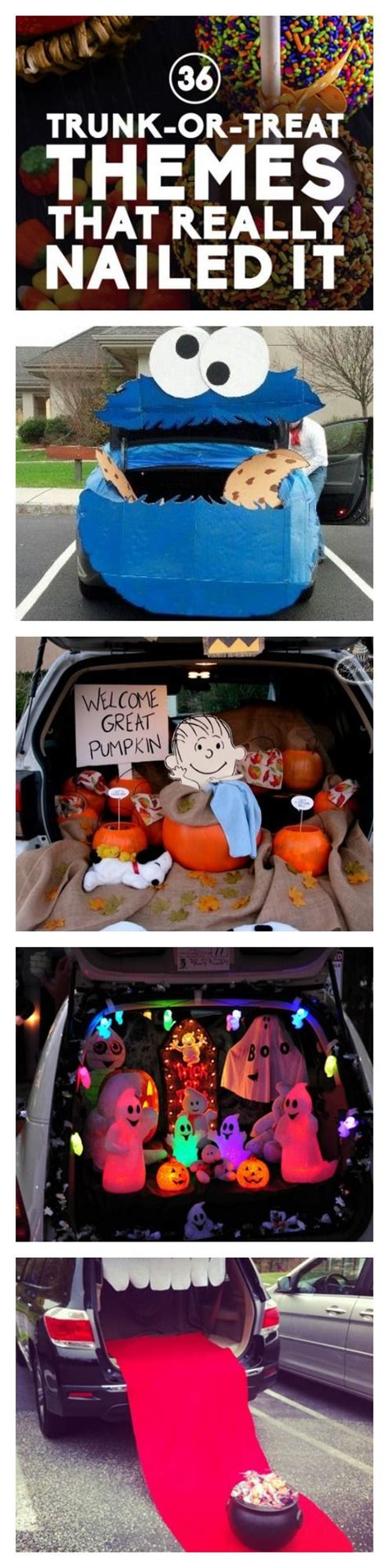 halloween trunk themes trunk or treat trunks and treats on pinterest
