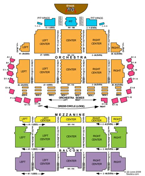 wang theatre boston seating map images