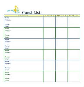 Event Guest List Template 10 Party Guest List Templates Word Excel Pdf Formats