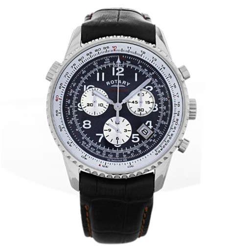 rotary s quartz blue chronograph display and