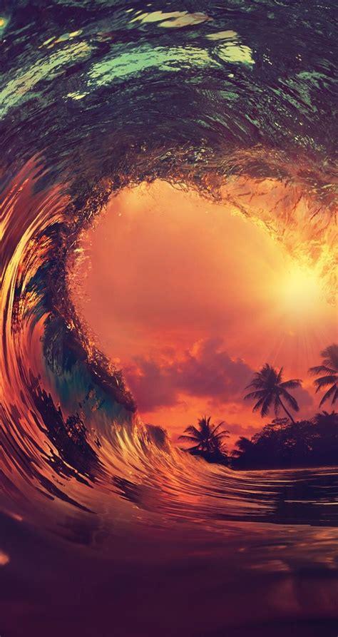 beautiful wave  sunset surfthat papeis de parede