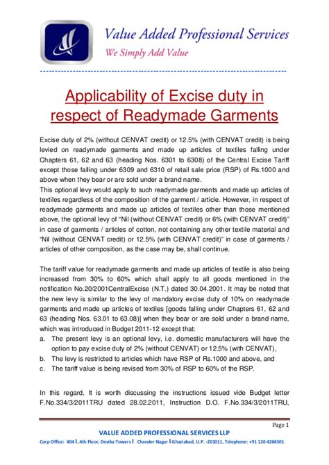 Compulsory Search Registration Compulsory Registration Excise For Readymade Garment Manufactur