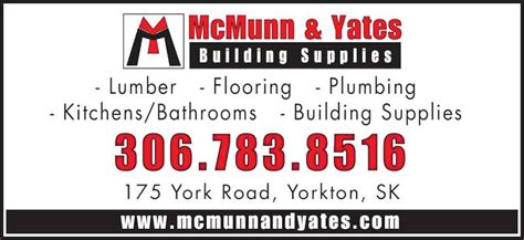 Furniture Stores Yorkton by Mcmunn Yates Building Supplies Opening Hours 175 York Rd W Yorkton Sk