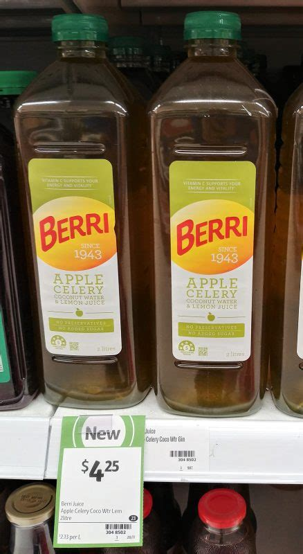 Shelf Of Lemon Juice by New On The Shelf At Coles 18th December 2017 New
