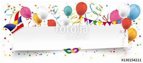 Indesign Vorlagen Kaufen Quot Fasching Header Mit Luftballons Konfetti Und Luftschlangen Quot Stockfotos Und Lizenzfreie
