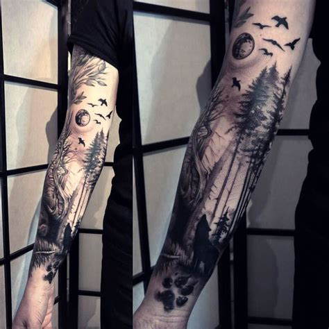 tree sleeve tattoo designs forest sleeve designs ideas and meaning tattoos