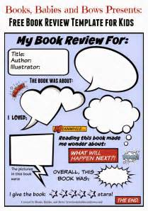 grade book review template books babies and bows free book review template for