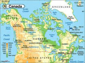 canada physical map by maps from maps world s